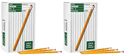 Dixon IUYEHDUH Wood-Cased Graphite Pencils, 2 HB Soft, Yellow, 144 Count 2 Pack by Dixon (Image #5)