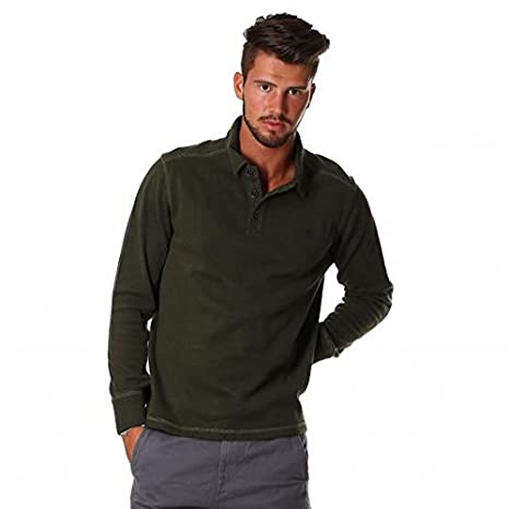 TIMBERLAND LS CANOE RIVER 768 FOREST NIGHT POLO PARA HOMBRE verde ...
