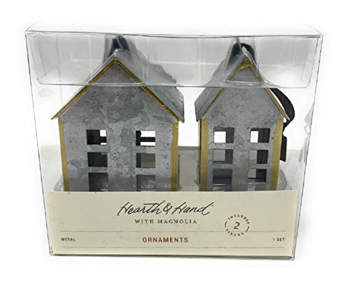 (Hearth & Hand with Magnolia Metal House Ornaments Set of 2)