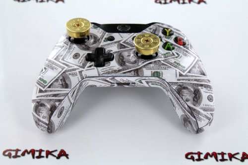 """Money Talks w/ShotGun Thumbsticks"" Xbox ONE Custom Modded Controller Exclusive Design - COD Ready Zombie Auto Aim, Drop Shot, Fast Reload, & Menu for Ghost !"