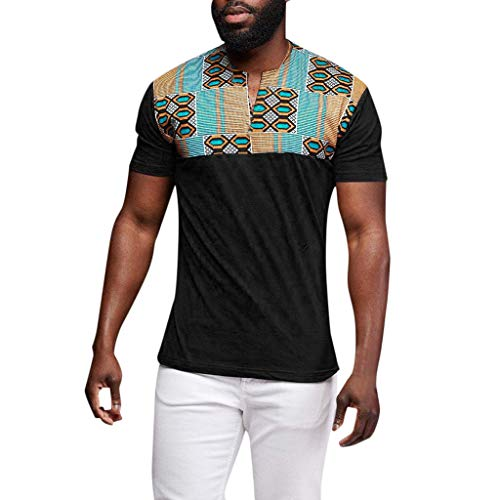 Letdown_Men tops Men Tshirts Graphic Funny Short Sleeve Casual Printed Patchwork Slim Fit Quick-Dry T Shirt Top Blouse - Wool Button Suit 3 120's