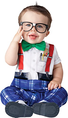 UHC Nursery Nerd Geek Outfit Infant Toddler Fancy Dress Halloween Costume, 12-18M