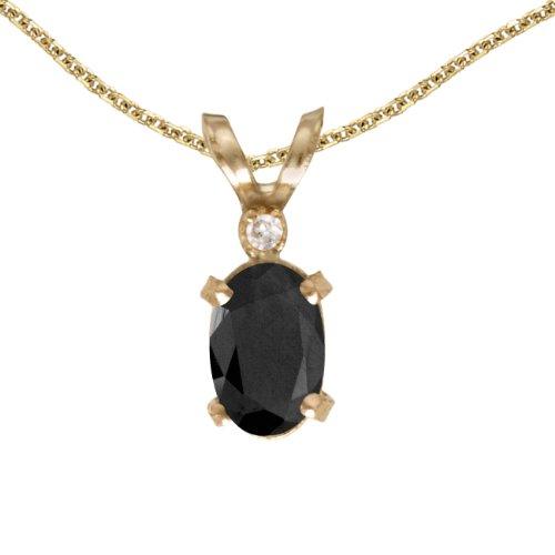 Yellow Gold Black Onyx Slide - 6