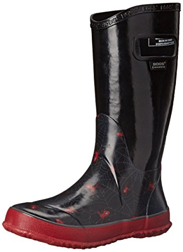 Bogs Kids Rubber Waterproof Rain Boot Boys Girls, Creepy Crawler/Black/Multi, 7 M US Toddler