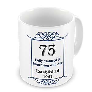 75th cumpleaños establecido 1941 años cardioversión - azul