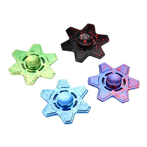 Coohole Tri Fidget Hand Spinner Triangle Torqbar Finger Toy EDC Focus ADHD Autism Kid Toy (Green) - 5