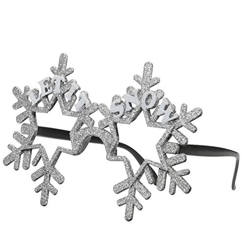 Ocean Line Glittered Christmas Snowflake Sunglasses – Fun Glasses, Party Favors, Novelty Shades, Party Toys, Funny Costume Accessories Kids & Adults