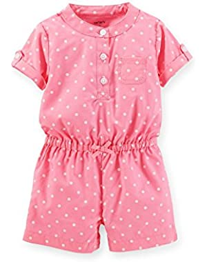 Baby Girls Pink Polka Dot Romper Newborn