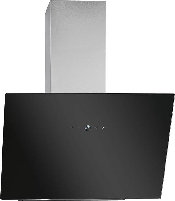 Bomann DU 7604 G - Campana extractora vertical sin cabeza, 60 cm de ancho, control táctil, 9 niveles de potencia, iluminación LED, color negro y ...
