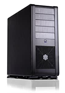 SilverStone FT01B Aluminum ATX Mid Tower Uni-Body Computer Case - Retail (Black)
