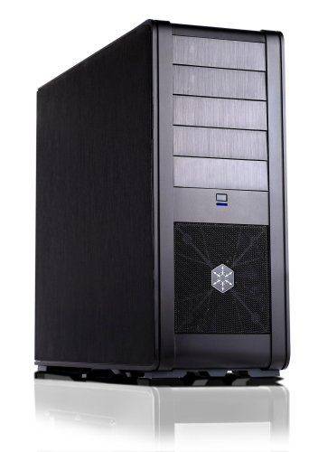 Silverstone FT01B Aluminum ATX Mid Tower Uni-Body Computer Case - Retail (Black)