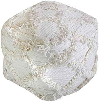 Christopher Knight Home Jucar Fabric Pouf, Ivory