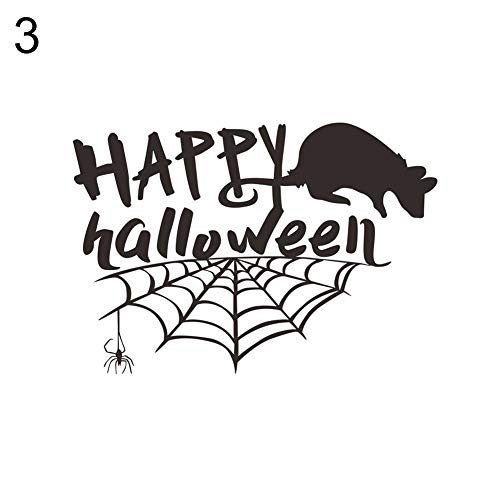 yanbirdfx Halloween Witch Bat Spider Mouse Sticker Poster Decal Bedroom Mural Wall Decor 3#