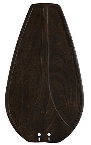Fanimation B5212WA Sweep Single Side Carved Wood Blades for Islander, Set of 5
