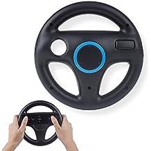 Mario Kart Wii Steering Wheels, TechKen Mario Kart Racing Wheel for Nintendo Wii, Mario Kart, Tank, more Wii or Wii U racing games (Black)