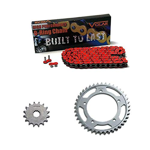 Daytona O-ring Chain - 2011-2016 Triumph Daytona 675R O-Ring Chain and Sprocket Kit - Red