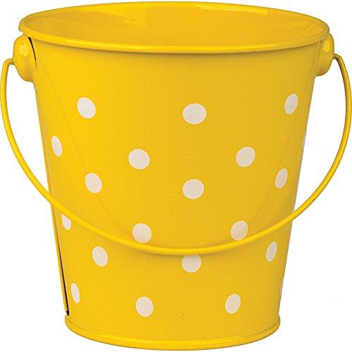 - Yellow Polka Dots Bucket