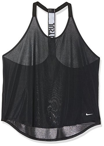 Women's Nike Training Tank Black/White Size Large