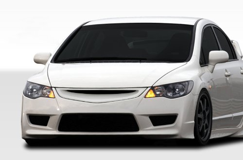 Duraflex Replacement for 2006-2011 Honda Civic 4DR JDM Type R Conversion Front Bumper Cover - 1 Piece ()