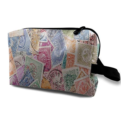 - Makeup Bag Old Postage Stamp Handy Travel Multifunction Beauty Bags Marvellous Holder For Girls