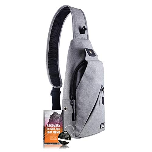 Peak Gear Sling Compact Crossbody Backpack and Day Bag - w/Lifetime Lost & Found ID (Best Travel Gear For Women)