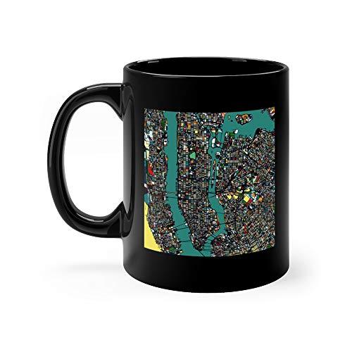 Ceramic Menu Tile - Manhattan Area Art Map Funny Mugs Cups Cup Ceramic 11 Oz