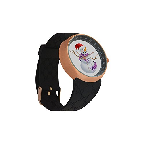 Novelty Gift Merry Christmas Snowman Men's Rose Gold Plated Resin Strap Watch by Snowman Watch (Image #2)