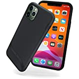 Snugg iPhone 11 Pro Max (2019) Case - Slim Cover Protective Pulse Series Silicone Shockproof - Blackest Black