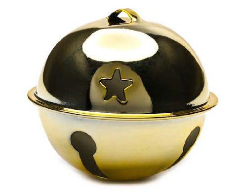 Gold Metal Jingle Sleigh Bell for Crafting, Designing and Decorating - 8 Total (Cove Sleigh)