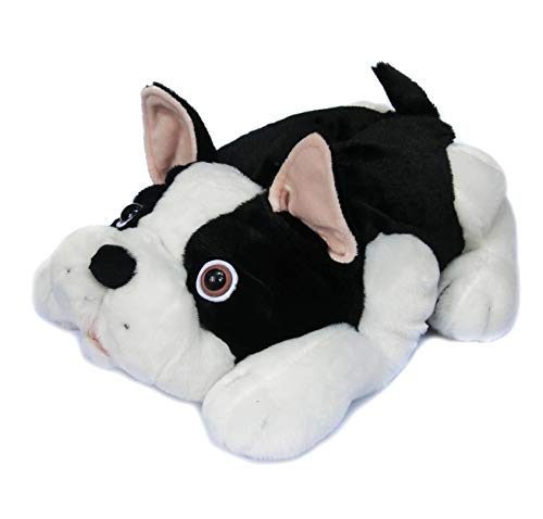 Onmygogo Fuzzy Winter Animal House Dog Slippers for