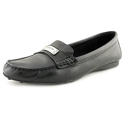 Coach Womens Fredrica Leather Driving Loafers, Black, Size - Coach Discount Store