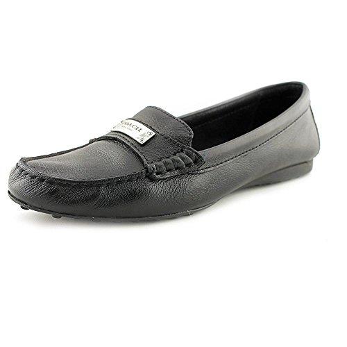 Coach Womens Fredrica Round Toe Loafers, Black, Size 9.5