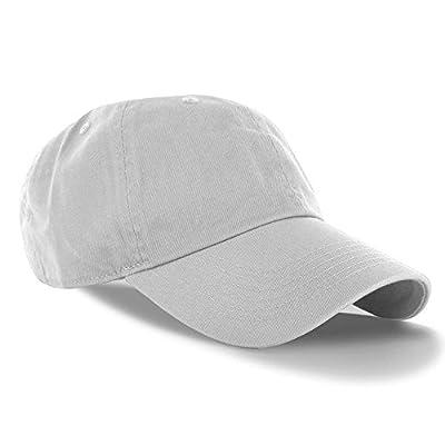White_(US Seller)Curved Bill Plain Baseball Cap Visor Hat Adjustable