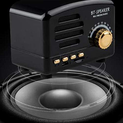 Luvinn Bluetooth Speaker,Wireless Retro Radio Card Mini Speaker,Suitable for Family Reunion,Camping