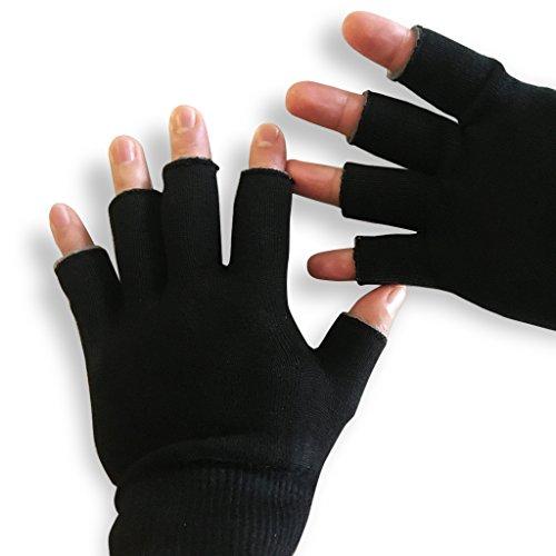 Large Moisturizing Gloves Men & Women- Reusable Black Touch Screen Moisturizing Gloves