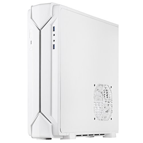SilverStone Technology Slim min-ITX Computer Case with RGB Lighting in White SST-RVZ03W Cases by SilverStone Technology