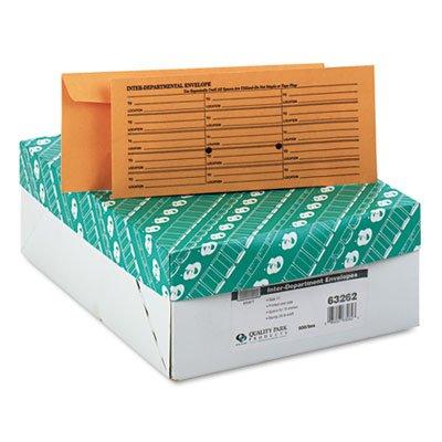 QUA63262 - Brown Kraft Fold Flap Kraft Trade Size Interoffice Envelope