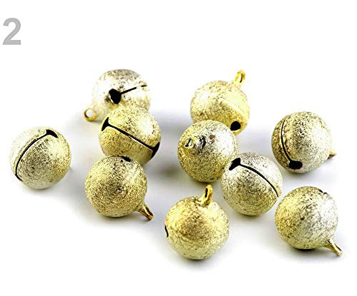 5pc 2gold Metal Jingle Bell Ø20mm Glitter, Bells, and Other, Decorations ()