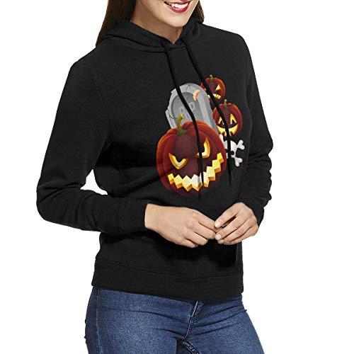 Womens Hoodies Halloween Tombstone Jack-o '-Lantern Decoration Hot Sweatshirts Hoodie Long Sleeve Shirt