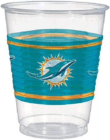 Miami Dolphins Collection Plastic Party Cups Amscan Toys 421356