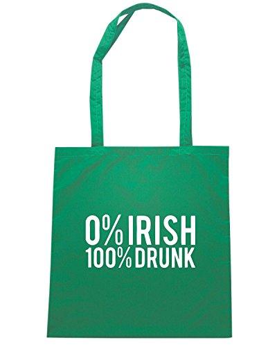 T-Shirtshock - Bolsa para la compra TIR0001 irish 100 drunk Verde