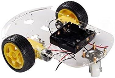 TOOGOO 2WD Motor Inteligente Robot Coche chasis Kit Encoder bateria Caja de Velocidad para Arduino: Amazon.es: Juguetes y juegos