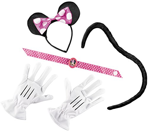 Disguise Disney Mickey Mouse Clubhouse Minnie Mouse Adult Kit, Pink/White/Black, One Size Costume (Cartoon Character Costume Ideas Adults)