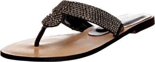 Unze Evening Sandals L18575W - Sandalias para mujer Negro