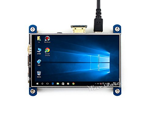 Waveshare 4inch HDMI LCD Resistive Touch Screen 800x480 High Resolution HDMI interface IPS Screen Designed for Raspberry Pi 3 B/2B/B +/B by Waveshare -LCD