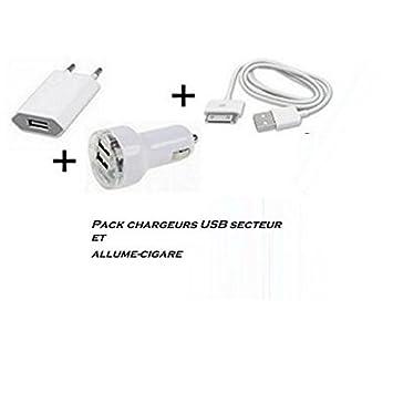 Cable USB y cargador para iPhone 3 G 3 GS 4 4S + + adaptador ...