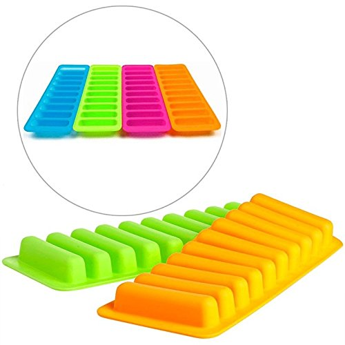 Silicone Cylinder Ice Cube Tray Freeze Mould