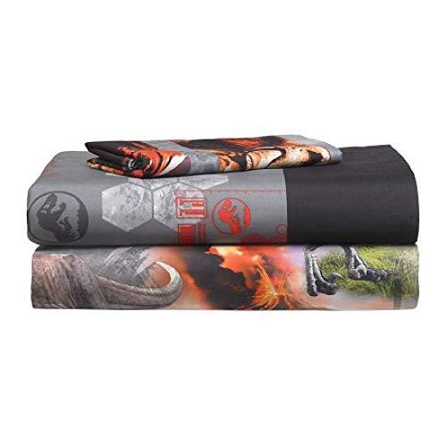 Price comparison product image Jurassic World 2 'Eruption' 3-Piece Twin Sheet Set