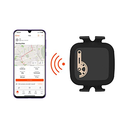 Coospo Speed Cadence Sensor ANT+ Bluetooth Technology Wireless Waterproof for iPhone Android and Bike Computers