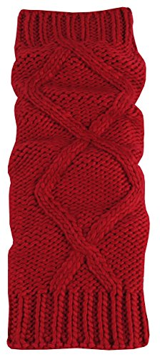 N'Ice Caps Big And Little Girls Fashion Cable Knit Leg Warmers (8-12 Years, (Girls Red Leg Warmers)